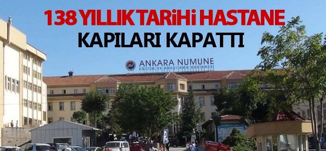 Tarihi hastane kapandı