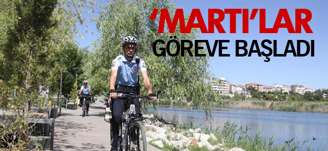 Bisikletli 'Martı'lar göreve başladı