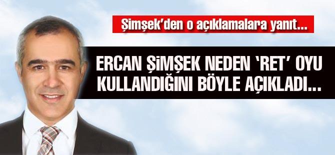CHP'li Ercan Şimşek'ten Ret açıklaması