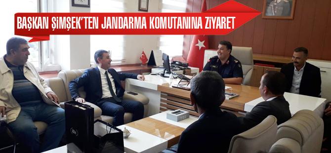 Başkan Şimşek'ten Jandarma Komutanına ziyaret