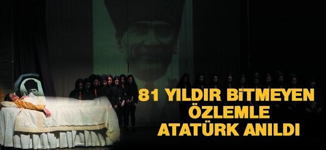 Mustafa Kemal Atatürk 81. yılında anıldı