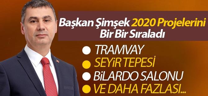 Başkan Şimşek projeleri açıkladı