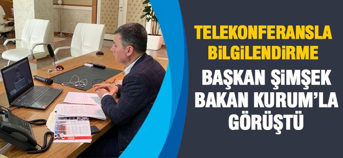 Başkan Şimşek Bakan Kurum'la görüştü