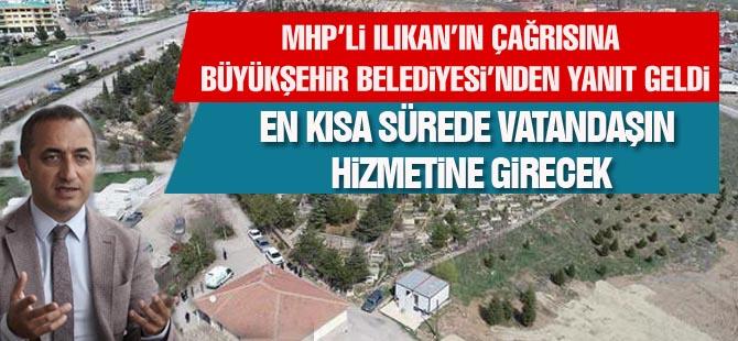 MHP'li Ilıkan'ın çağrısına Büyükşehirden yanıt geldi