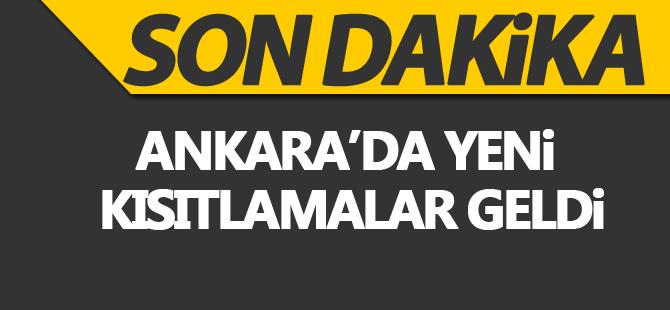 Son dakika: Ankara'da 65 yaş üstüne kısıtlama kararı