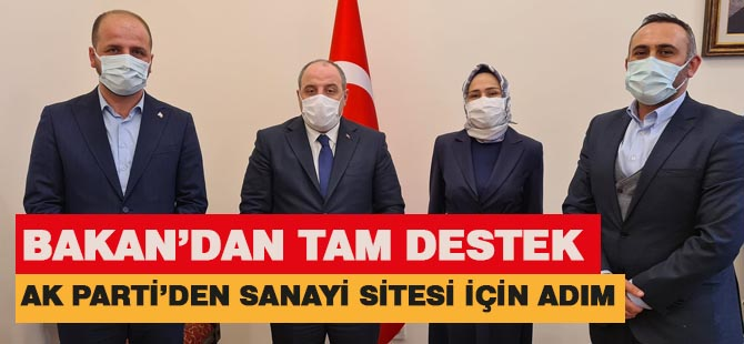 AK Parti yeni sanayi sitesi için durmadı