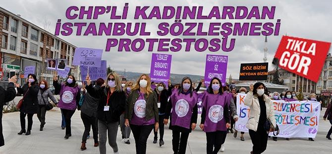 CHP'lilerden İstanbul Sözleşmesi protestosu