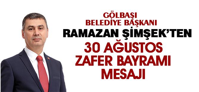 BAŞKAN ŞİMŞEK'TEN 30 AĞUSTOS ZAFER BAYRAMI MESAJI
