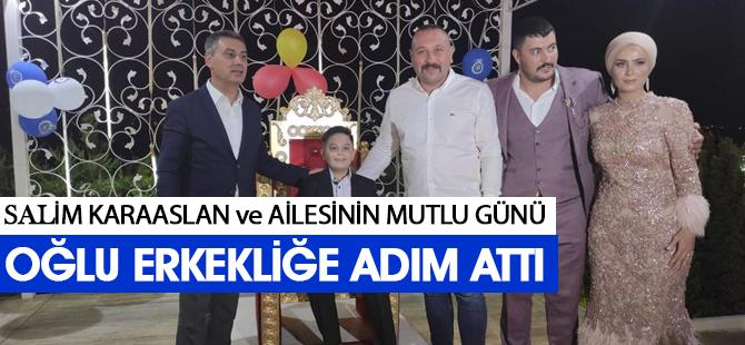 Salim Karaaslan ve ailesinin mutlu günü