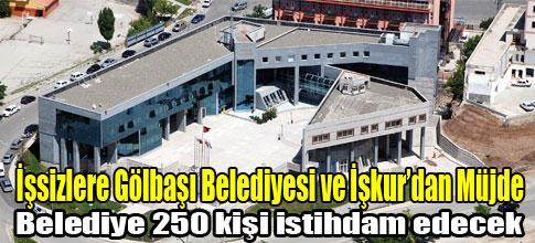 İşsizlere Gölbaşı Belediyesi ve İşkur'dan Müjde