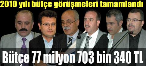 Yeni Bütçe 77 milyon 703 bin 340 TL