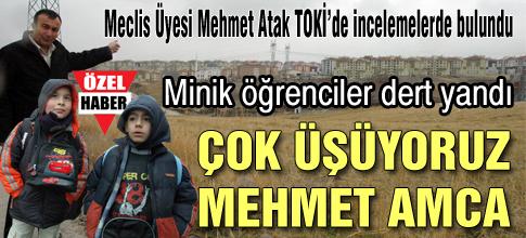 Çok üşüyoruz Mehmet Amca
