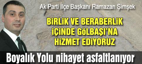 Şimşek; AMACIMIZ HİZMET
