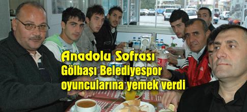 Anadolu Sofrasında Belediyespora jest