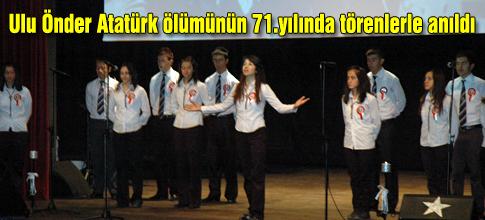 Atatürk törenlerle anıldı