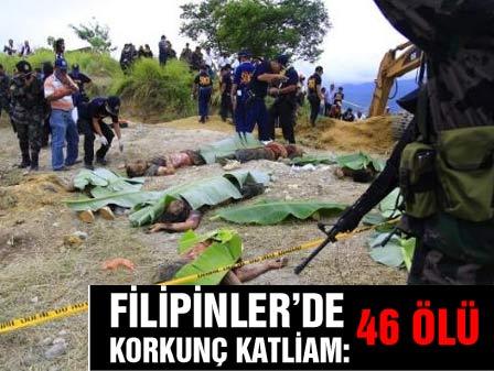 Filipinlerde dehşete düşüren katliam