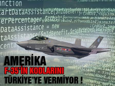 ABD F-35 kodlarını Türkiyeye vermeyecek!