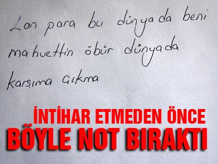 Adanada intihar eden bir işçi öyle bir not bıraktı ki...