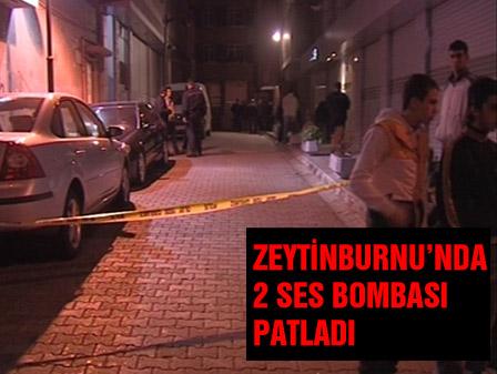 Zeytinburnunda 2 ses bombası patladı