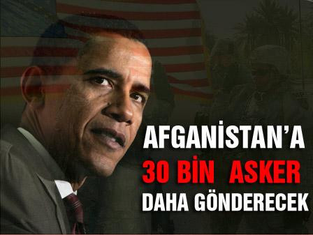 Obama Afganistana 30 bin asker gönderecek