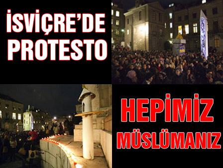 İsviçrede hepimiz müslümanız protestosu