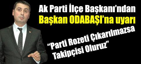 AK Partiden Belediyeye uyarı