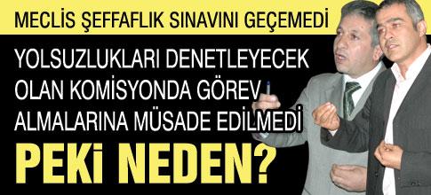 MECLİS ŞEFFAFLIKTA SINIFTA KALDI