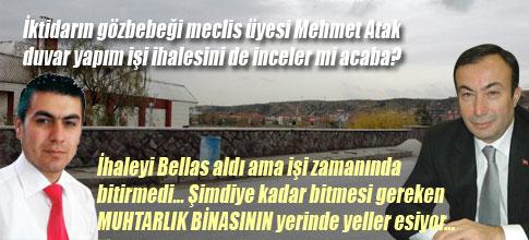 Mehmet Atak, duvar ihalesini de inceler mi?