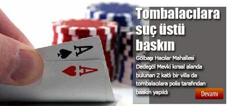 TOMBALACILARA SUÇÜSTÜ..