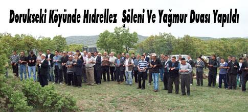 Dorukseki Köyünde Hıdrellez  Şöleni Ve Yağmur Duası Yapıldı