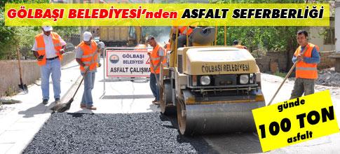 Günde 100 ton asfalt atılıyor