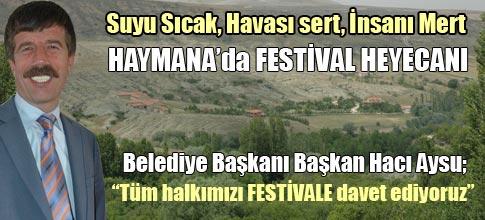 Haymanada festival heyecanı