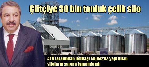 Çiftçiye 30 bin tonluk çelik silo