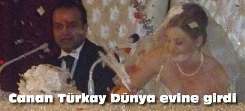 Canan Türkay evlendi