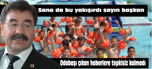 Başkan Amca Çocukları Havuza Götürecek