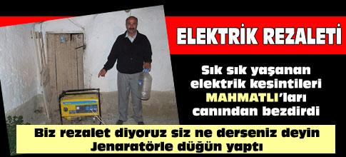 Mahmatlı mahallesinde elektrik kesintisi işkenceye döndü