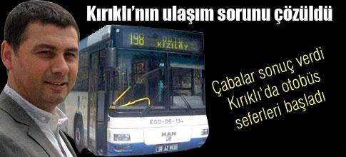 Kırıklı Mahallesi de otobüsüne kavuştu…