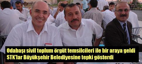 STKlardan büyükşehir belediyesine tepki