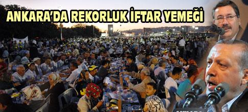 Ankarada rekorluk iftar yemeği