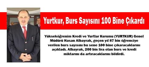 Yurtkur, Burs Sayısını 100 Bine Çıkardı