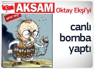 Akşam gazetesinden Oktay Ekşi karikatürü