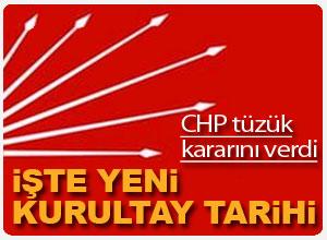 CHP'den tüzük kararı açıklaması