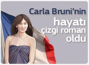 First Lady Carla Bruni'nin yaşamı çizgi roman oldu