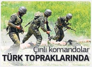Çin Halk Kurtuluş Ordusu'na bağlı kara komandoları Türk topraklarında
