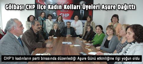 Gölbaşı CHP İlçe Kadın Kolları Üyeleri Aşure Dağıttı