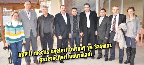 AKPli Duruay ve Şaşmaz gazetecilerin gününü kutladı