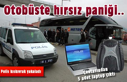 Otobüste hırsız paniği