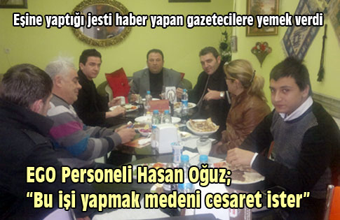 Hasan Oğuz, gazetecilere yemek verdi