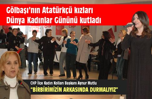 CHPden Kadınlar Günü Kutlaması