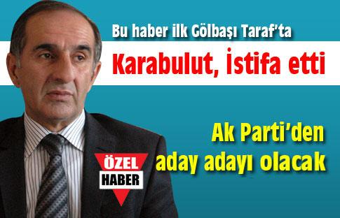 Karabulut istifa etti